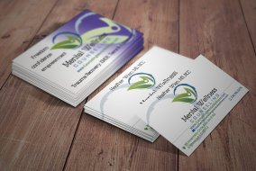 mental wellness counseling business card