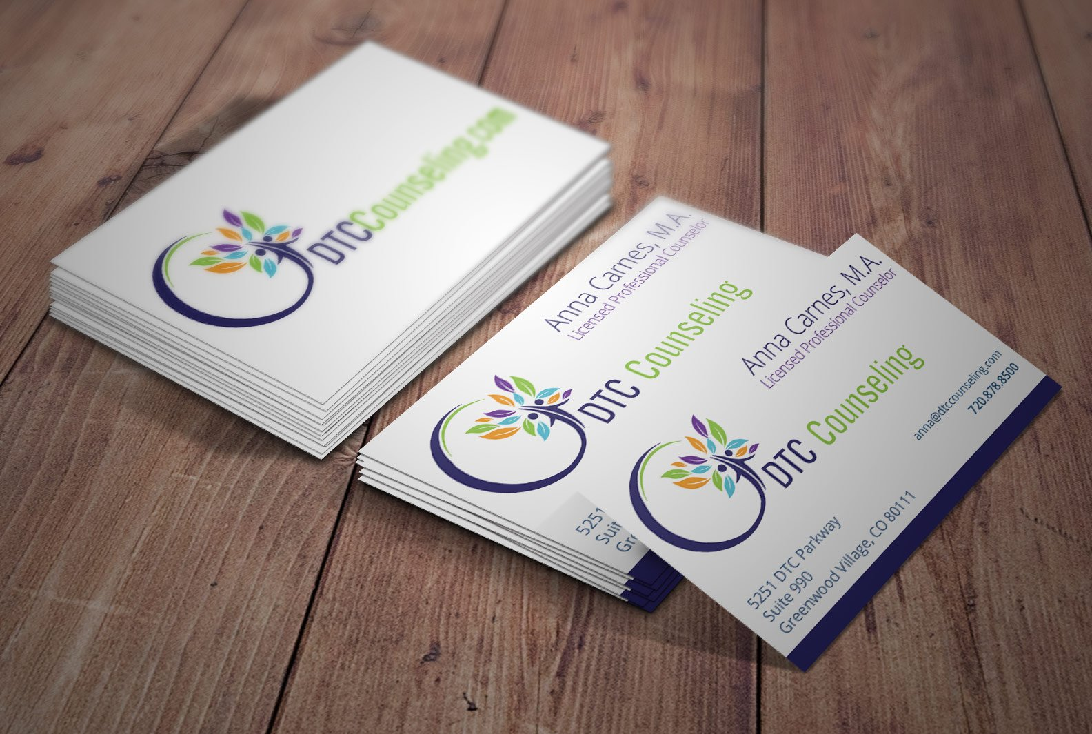 Samples of ignites logos print and websites for counselors custom counselor business card magicingreecefo Gallery