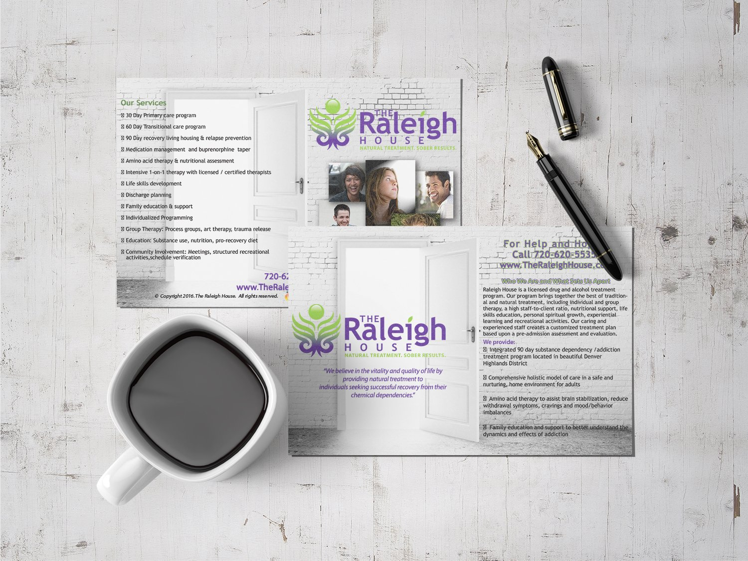Samples of ignites logos print and websites for counselors custom designed rehab recovery oversized postcard magicingreecefo Image collections